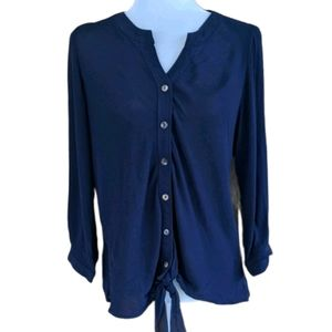 3/$15 NWT Christopher & Banks Tie Front Top - S
